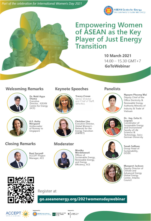 Empowering Women of ASEAN as the Key Player of Just Energy Transition